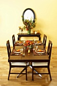 Table Set with Gourds at Each Place Setting