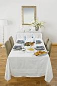 Table Set for Hanukkah Dinner