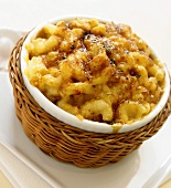 Baked Macaroni and Cheese in an Individual Baking Dish