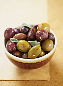 Bowl of Assorted Marinated Olives