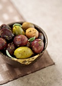 Assorted Marinated Olives in a Bowl