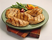 A Platter of Grilled Chicken Breasts