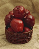 Red Delicious Apples in a Basket