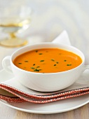 Bowl of Cream of Butternut Squash Soup