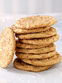 Tall Stack of Chewy Cinnamon Cookies