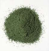 Pile of Dried Dill on a White Background