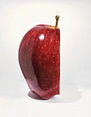 Half of a Red Delicious Apple on a White Background