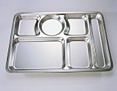 Industrial Food Tray on White Background