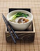 Bowl of Asian Noodle Soup, Chopsticks