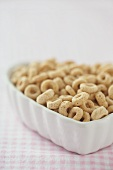 Toasted Oat Cereal in a Heart Shaped Bowl