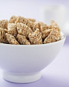 Close Up of a Bowl of Shredded Wheat Cereal