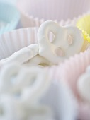 Yogurt Covered Pretzels in Paper Muffin Cups