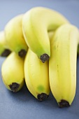 Bunch of Bananas on a Blue Background