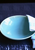 A Blue Bowl with Napkin