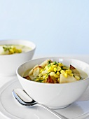 Seafood Chowder with Corn