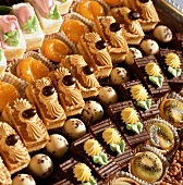 Rows of Assorted Bite Sized Desserts