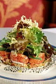 Lobster Salad with Mesclun Greens