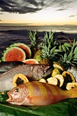 Assorted Hawaiian Fish and Produce