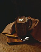 Steaming Cup of Hot Chocolate with Marshmallows, Spoon
