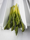 Close Up of Tips of Cooked Organic Asparagus