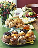 Breakfast Buffet with Filled Muffins, Scones and Fresh Fruit