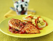 Breaded Chicken Fillet in a Tomato and Basil Sauce