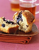 A Blueberry Muffin, Halved