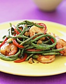 Shrimp Saute with Long Beans and Red Peppers