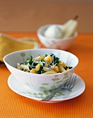Penne with Acorn Squash and Kale