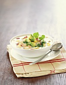 A Bowl of Crab and Hominy Chowder