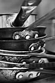 A Stack of Saute Pans