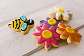 Bumble Bee and Flower Cookies