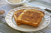 Two Pieces of Cinnamon Toast