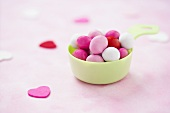 Small Cup of Candy Coated Valentine's Day Chocolates