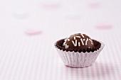 A Single Gourmet Chocolate Bon Bon
