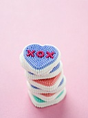 Stack of Love Icing Hearts