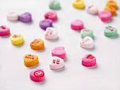 Colorful Conversation Heart Candies
