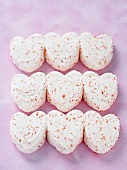 Many Heart Shaped Marshmallow Candies