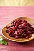 Small Dish of Dried Cranberries