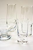 Assortment of Empty Glasses