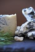 Pieces of Gorgonzola Cheese