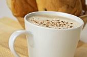 Café Latte in a White Mug