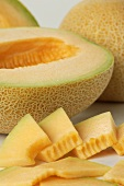 Slices of Cantaloupe with Half a Cantaloupe, Whole Cantaloupes