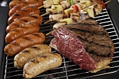 Various Meat on the Grill