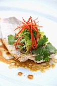 Yellowtail Snapper with Ginger and Sweet Red Peppers