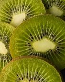 Close Up of Organic Kiwi Slices