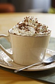 Cocoa with whipped cream