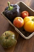 Organic Purple Pepper with Assorted Organic Heirloom Tomatoes