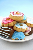 Plate of Assorted Decorated Pressed Cookies