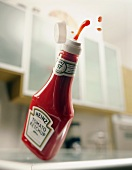 Ketchup Squirting From a Plastic Bottle